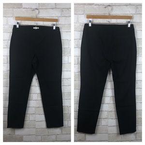 Eileen Fisher Organic Cotton Blend Black Pants
